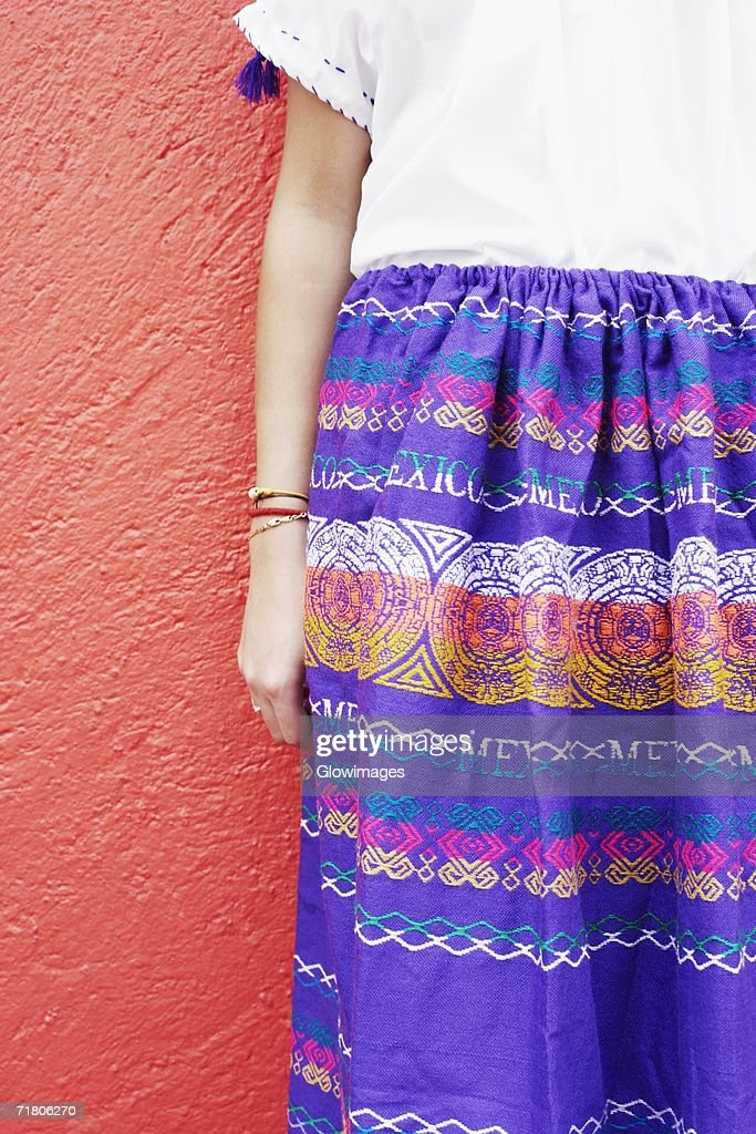 Mid section view of a girl standing : Stock Photo