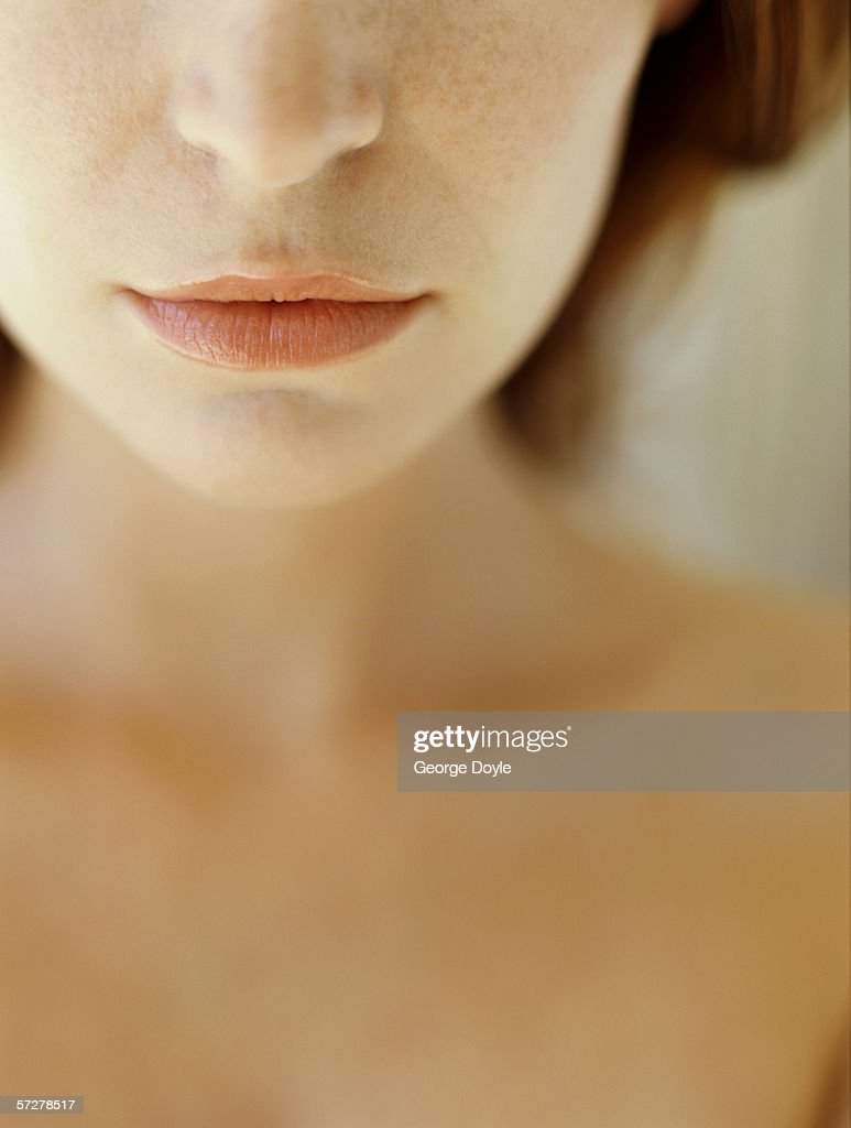 Mid Section View Of A Young Woman Stock Photo | Getty Images