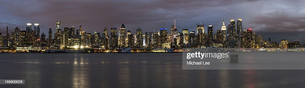 Mid Town Blue Hour Panorama from Weehawken