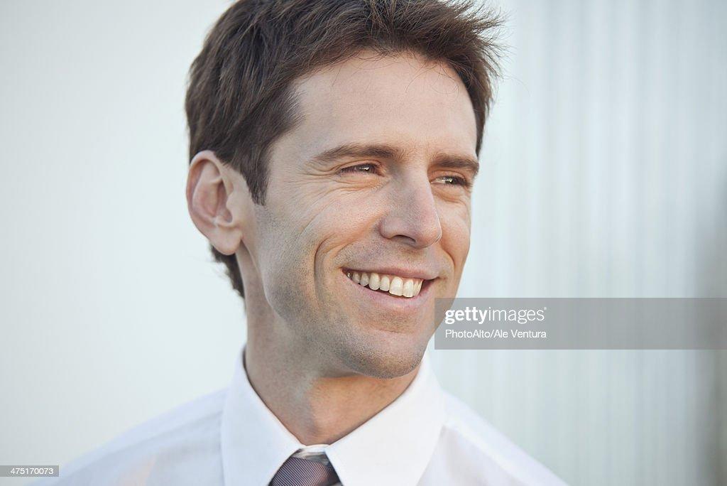 Mid-adult businessman, portrait : Stock Photo