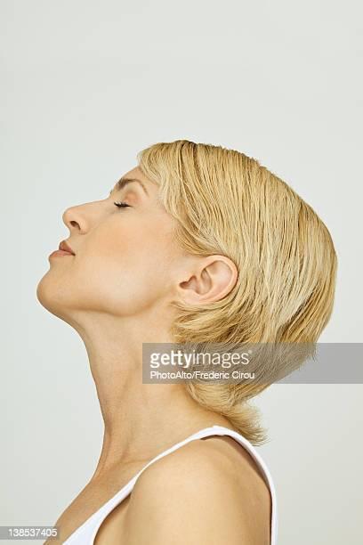 Mid-adult woman, profile