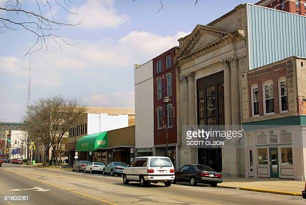 Midafternoon traffic passes though downtown Terre Haute Indiana 09 April 2001 The town will be the site of the 16 May 2001 execution of Oklahoma City...