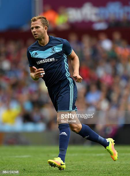 Middesbrough player Jordan Rhodes in action during the pre season friendly between Aston Villa and Middlesbrough at Villa Park on July 30 2016 in...
