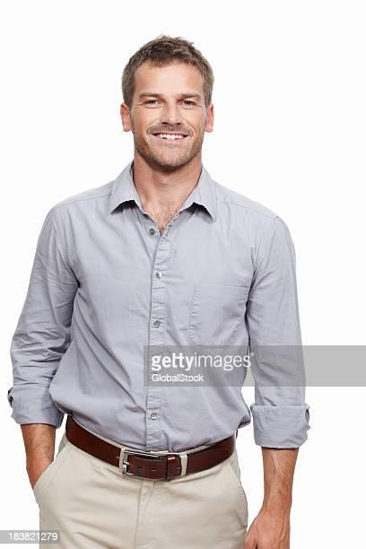 Mittleren Alter Mann Lächeln