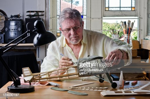 Middle aged model maker : Stock Photo