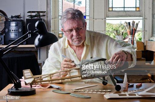 Middle aged model maker