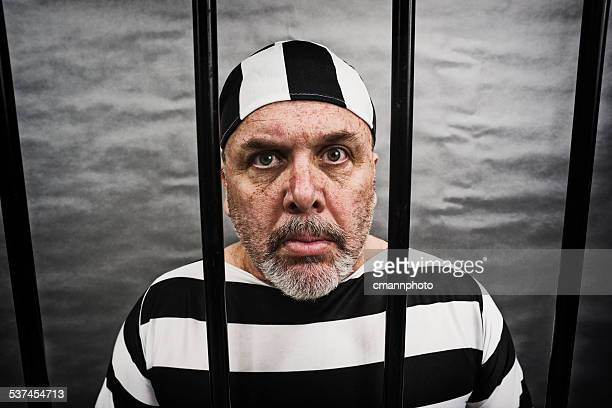 Middle aged white man in jail