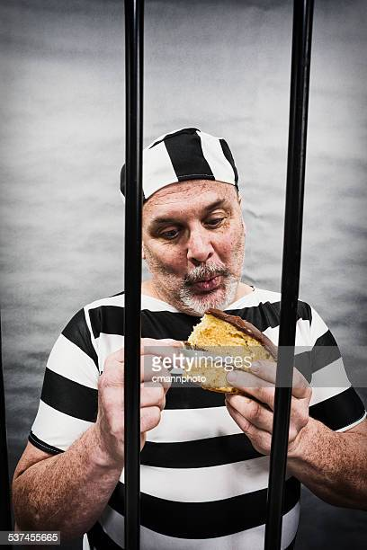 Middle aged white man trying to breakout of jail