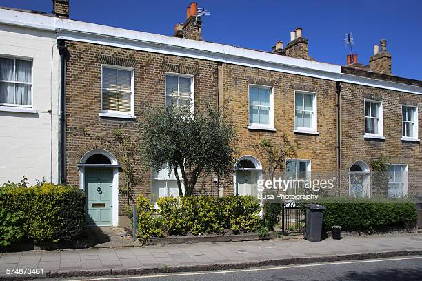 Middle class row houses in Stockwell, London, UK