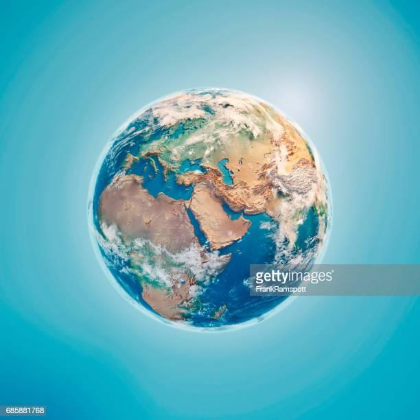 Nahen Osten 3D-Render Planet Erde Wolken
