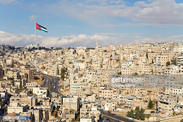 Middle East, Jordan, Amman; elevated view from the Citadel