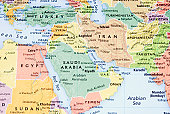 Middle East, Persian Gulf and Pakistan/Afganistan Region map - III