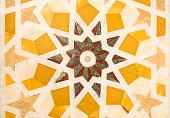 Mosaic tile detail at Sultan Qaboos Mosque, Muscat, Oman.