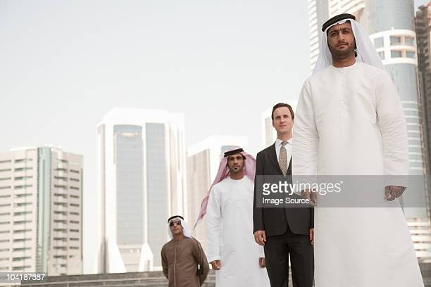 Middle eastern and western businessmen in dubai