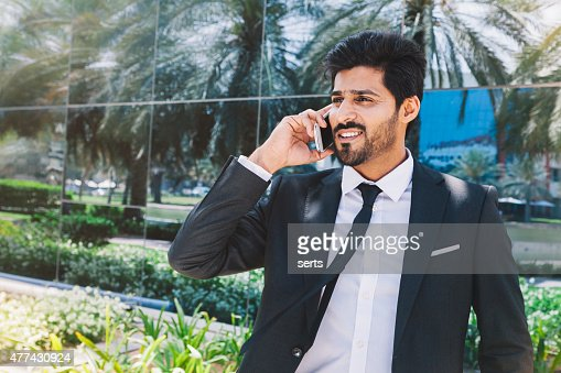 Middle eastern businessman on the phone