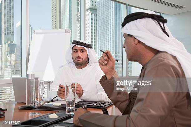 Middle eastern businessmen in meeting