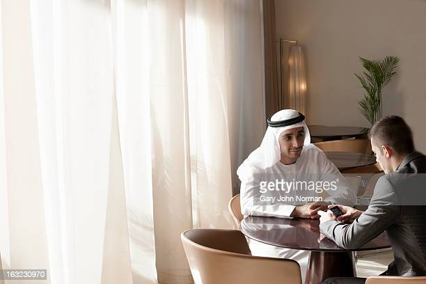 Middle Eastern Businessmen meeting