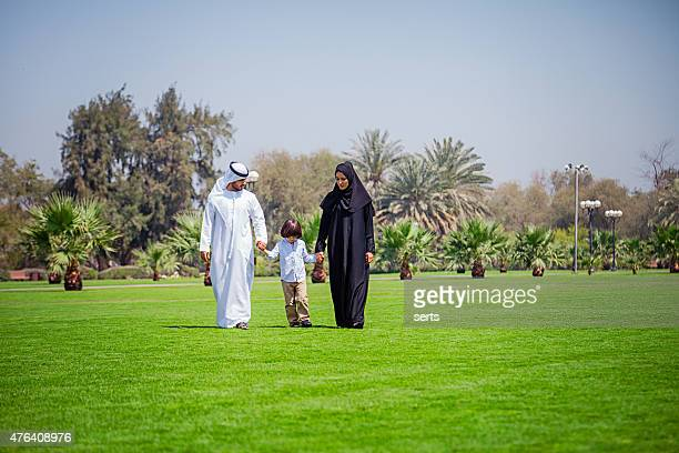 Middle Eastern Family enjoying at park