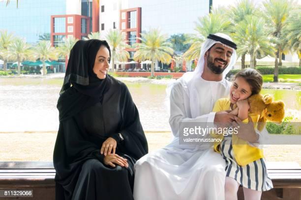 Mellanöstern familjen i parken