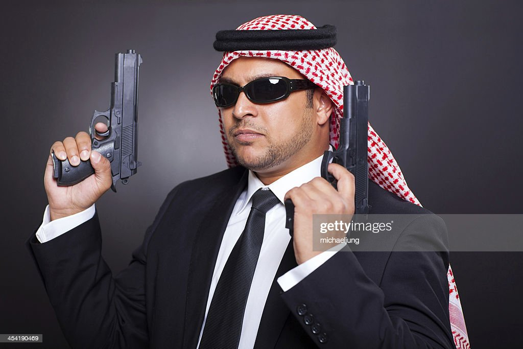 middle eastern hitman : Stock Photo