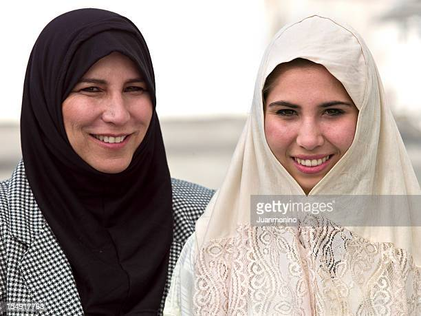 Middle eastern mother and her daughter