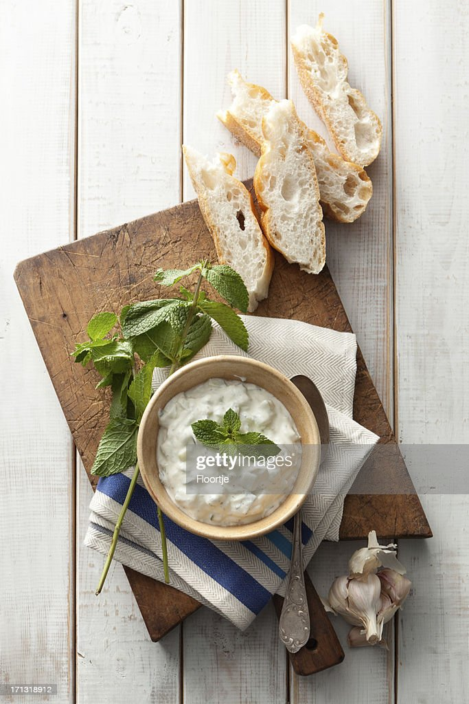 Middle Eastern: Tzatziki and Bread