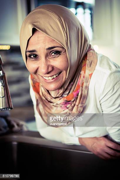 middle eastern woman at home