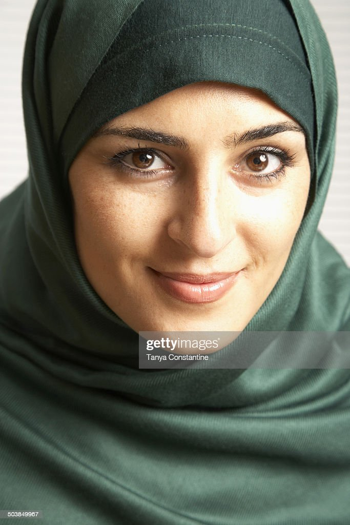 Middle Eastern Woman Wearing Headscarf Stock Photo | Getty ...