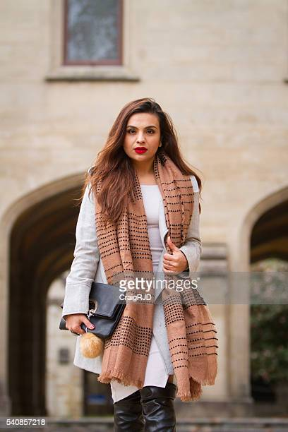 Middle Eastern Woman Winter Fashion