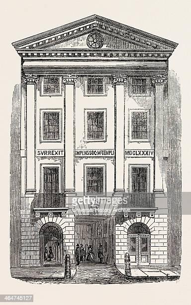 Middle Temple Gate Fleet Street London UK 1861