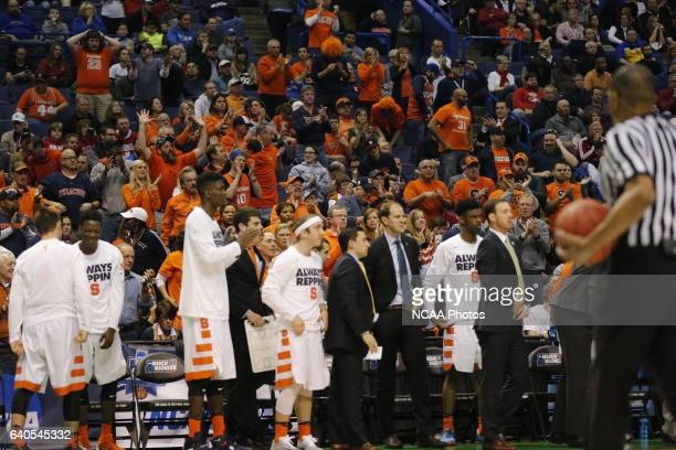 Middle Tennessee State University takes on Syracuse University during the 2016 NCAA Men's Basketball Tournament held at the Scottrade Center in St...