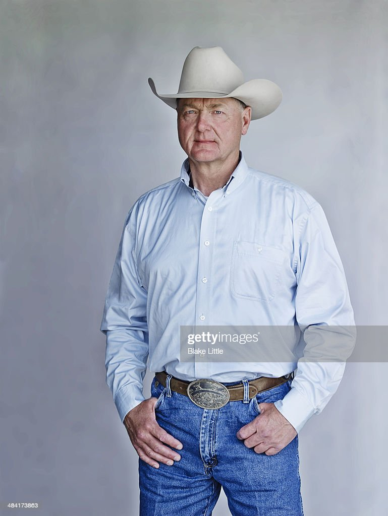 Middlee Aged Cowboy Rancher 3/4