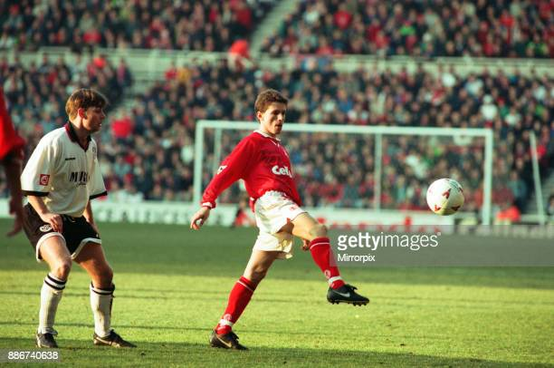 Middlesbrough 3 2 Hednesford Town FA Cup 4th round match held at the Riverside Stadium 25th January 1997