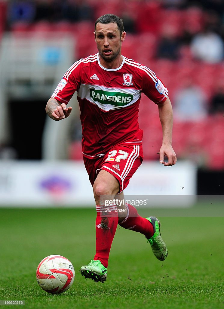 Middlesbrough forward Scott McDonald in action during the npower Championship match between Middlesbrough and Brighton Hove Albion at Riverside...