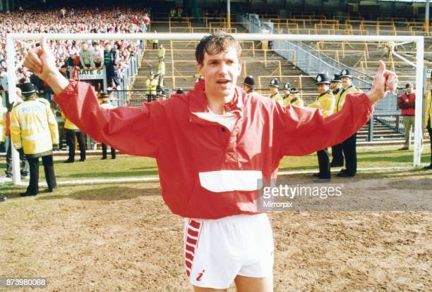 Middlesbrough goalkeeper Ian Ironside seen here before the start of the final match of the season against Wolverhampton Wanderers 2nd May 1992