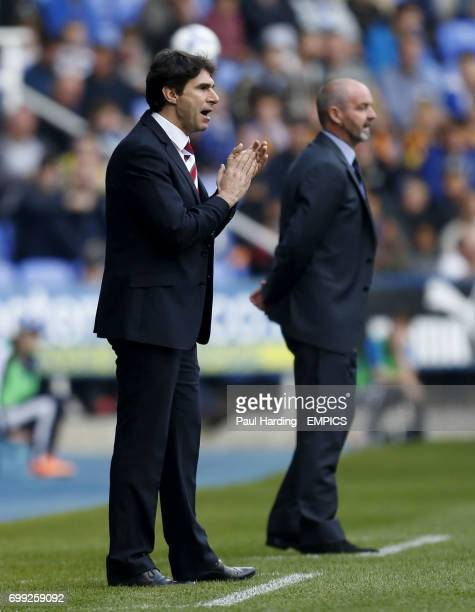 Middlesbrough manager Aitor Karanka and Reading manager Steve Clarke
