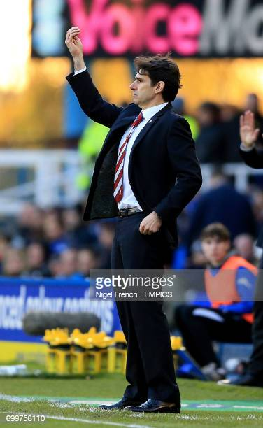 Middlesbrough manager Aitor Karanka gestures on the touchline