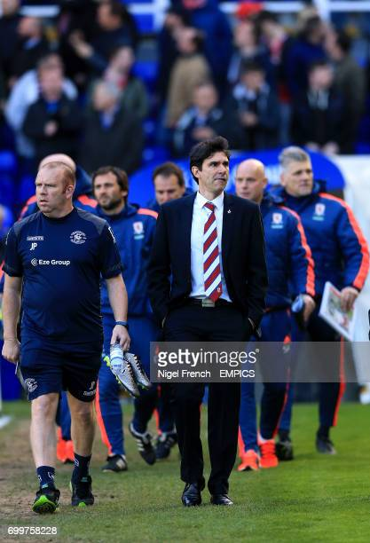 Middlesbrough manager Aitor Karanka walks out before the match