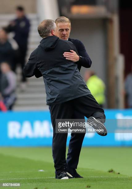 Middlesbrough manager Garry Monk and Sheffield United manager Chris Wilder shake hands after the Sky Bet Championship match at the Riverside Stadium...