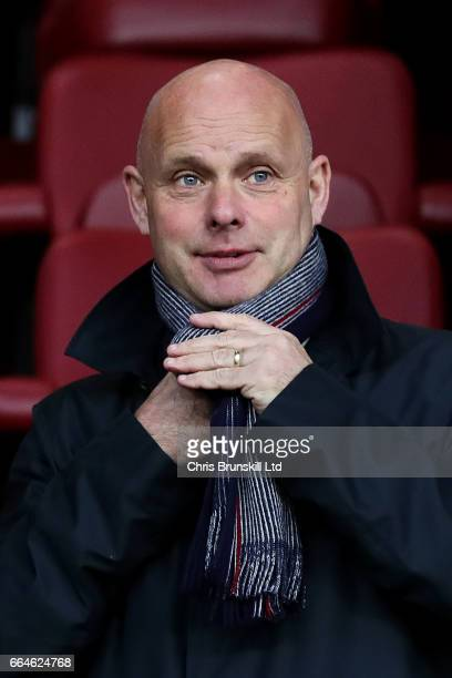 Middlesbrough manager Steve Agnew looks on during the Premier League match between Burnley and Stoke City at Turf Moor on April 4 2017 in Burnley...