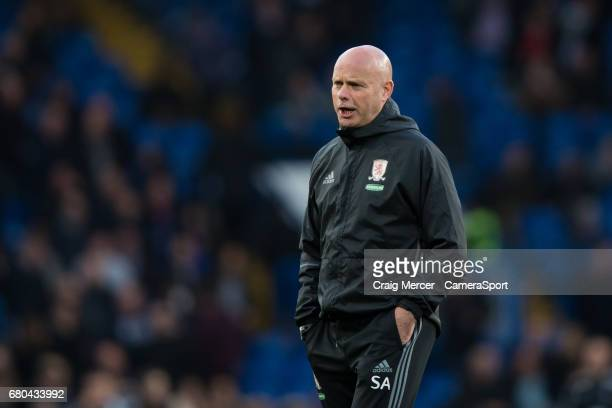 Middlesbrough manager Steve Agnew prior to the Premier League match between Chelsea and Middlesbrough at Stamford Bridge on May 8 2017 in London...
