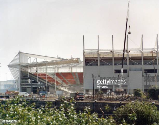 Middlesbrough new Riverside Stadium seen here under construction 22nd June 1995