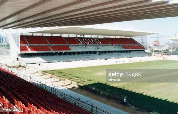 Middlesbrough new Riverside stadium seen here under construction 26th June 1995