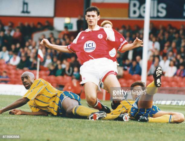 Middlesbrough player Alan Moore seen here in action against Birmingham City 2nd October 1993