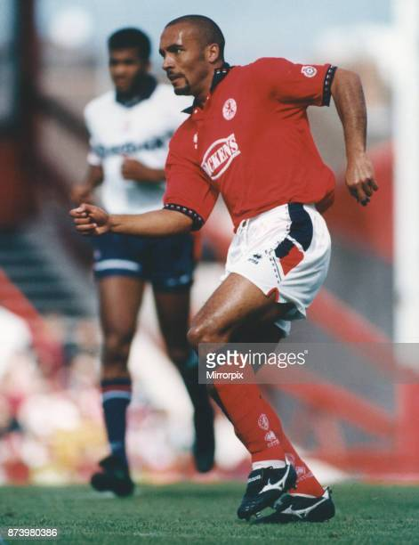 Middlesbrough player Curtis Fleming seen here in action against Bolton Wanderers 27th August 1994