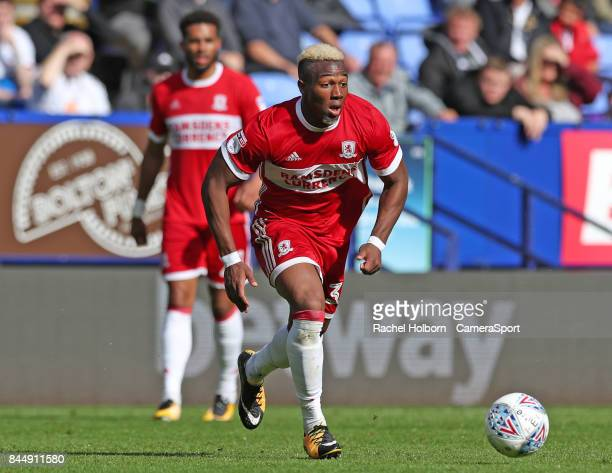 Middlesbrough's Adama Traore during the Sky Bet Championship match between Bolton Wanderers and Middlesbrough at Macron Stadium on September 9 2017...
