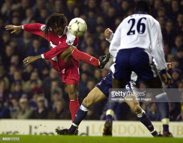 LEAGUE Middlesbrough's Christian Karembeu takes a shot on goal during the FA Premiership match against Tottenham Hotspur at White Hart Lane London