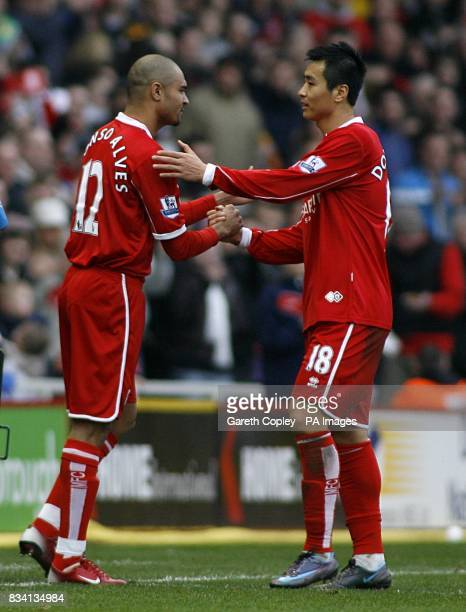 Middlesbrough's DongGook Lee is replaced by Afonso Alves