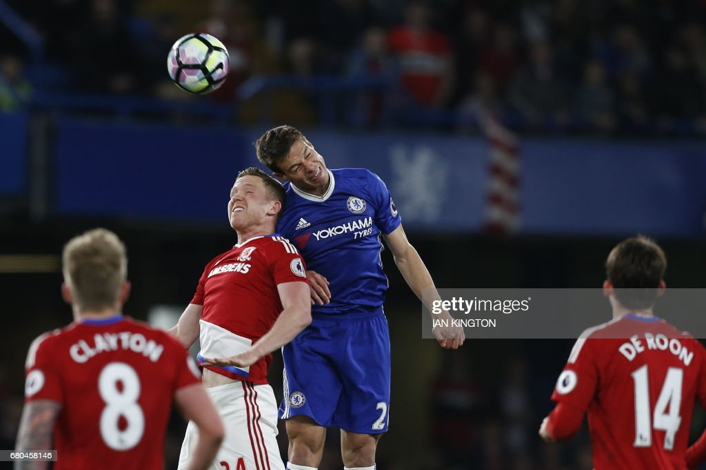 FBL-ENG-PR-CHELSEA-MIDDLESBROUGH : News Photo