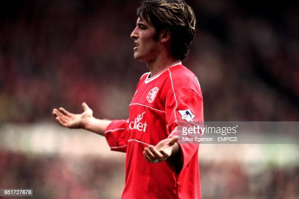 Middlesbrough's Franck Queudrue shrugs his shoulders
